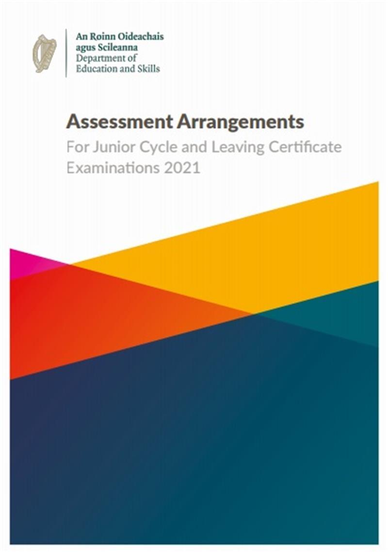 Assessment Arrangments for Junior & Leaving Certificate Eaxms 2012.jpg